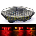 Clear LED Tail Brake Light Turn Signals For 2003-2008 Suzuki DL 650 1000 V-Strom Motorcycles Taillights