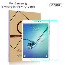 2 PCS/lot Tempered Glass Screen Protector For Samsung galaxy tab S2 T710 T715C T713 T719C 8.0 inch Tablet Protective Film Guard(China)