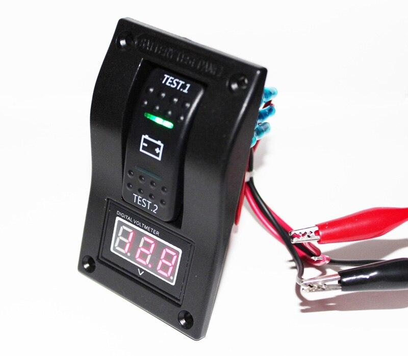 Вольтметр тест батареи панели кулисный переключатель DPDT/ВКЛ-ВЫКЛ-на 5-30 В DC морской/ лодка/RV Цифровой вольтметр motoycle