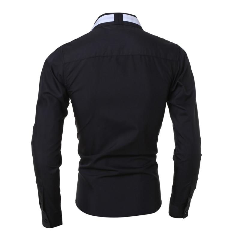 Herrenhemd 2018 Fashion Brand Herren Langarmhemd Herren Camisa - Herrenbekleidung - Foto 3