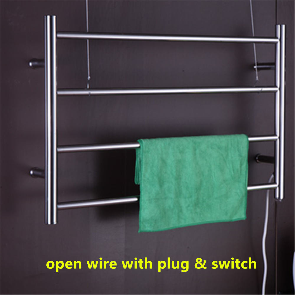 Free Shipping stainless steel 304 polish Wall Mounted Electric Towel ...