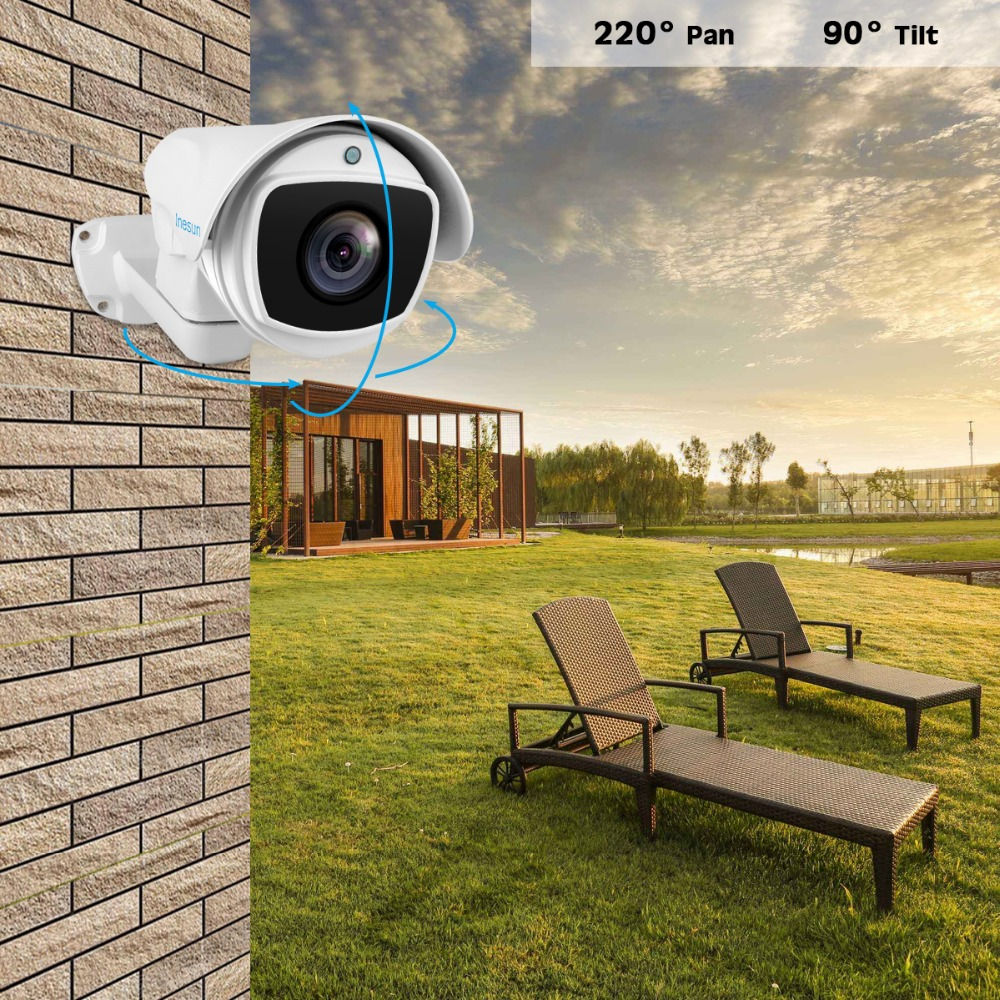 Image 3 - Inesun 5MP (2688x1944) Super HD AHD PTZ CCTV Camera 10X Optical Zoom Outdoor Video Surveillance Security Camera 330ft Laser IR-in Surveillance Cameras from Security & Protection