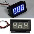 Hot Mini Bateria De Lítio Voltímetro Digital 4.5-30 v/DC 4.5 V para 30 V Voltímetro Digital de Tensão Medidor de Painel Para 6 V 12 V 24 V Electr