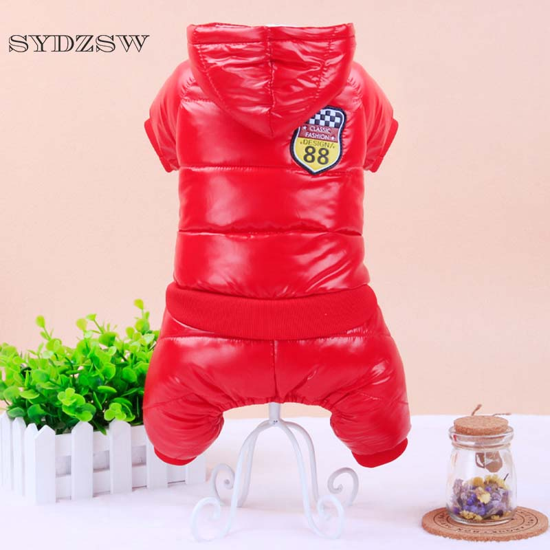 Waterproof Puppy Pet Ski Suit Winter Dog Clothes Red Blue Sport Chihuahua Clothing for Dogs Yorkshire Terrier Jumpsuit Parkas