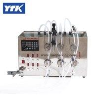 Semi Automatic 6 Heads Bottle Filling Machine For Liquids Fluids Oil 5ml To Unlimited