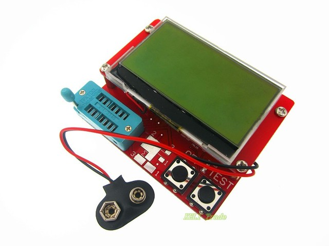 2PCS New 2015 12864 LCD Transistor Tester Capacitance ESR Meter Diode Triode MOS NPN LCR Mega328