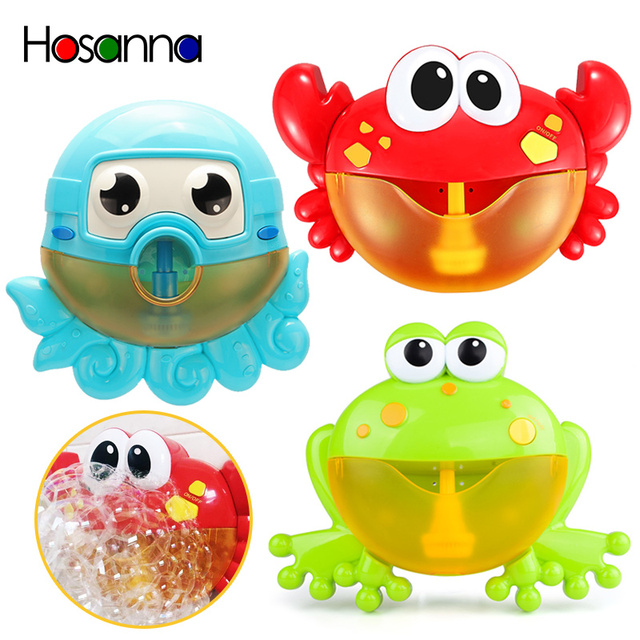 Baby Bath Toys For Kids Musical Bubble Maker Machine Crab Frog Fun Summer Water Play In Bathroom Toys for Children Gift Octopus