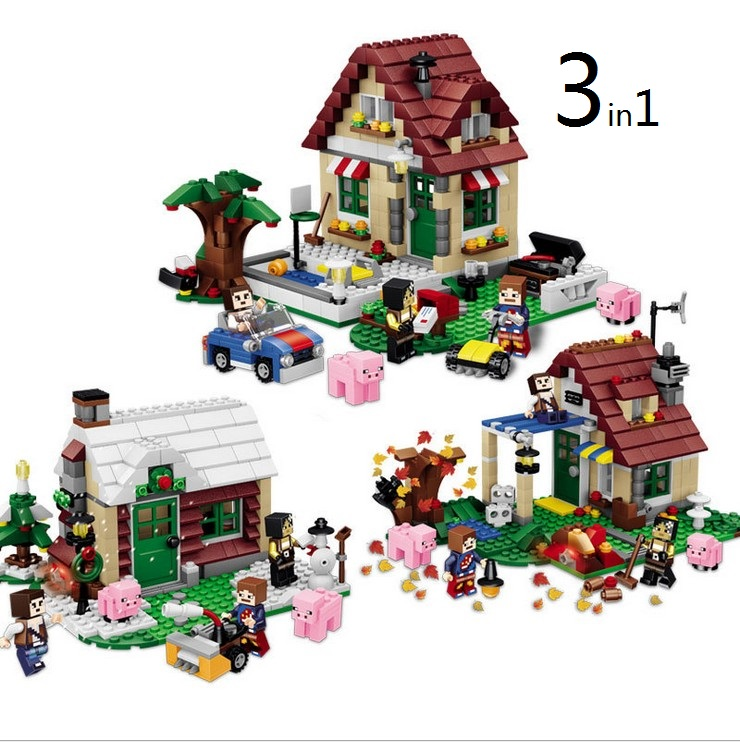 CHINA BRAND Educational Toys for children DIY Building Blocks 31038 Changing Seasons 3in1 Compatible with Lego china brand l0409 educational toys for children diy building blocks 00409 compatible with lego