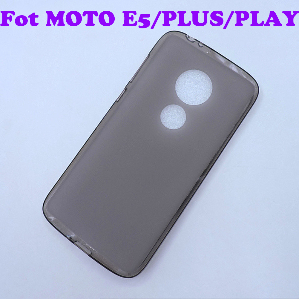 360 Soft Case For Motorola MOTO E5 PLUS PLAY New Soft Fit Flexible TPU Rubber Gel Skin Silicone Matte Back Shell