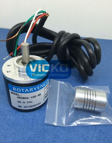 [VK] AB Two-phase 5-24V Incremental optical rotary encoder 100 400 pulse New and Original 1PCS/LOT nib rotary encoder e6b2 cwz6c 5 24vdc 800p r