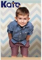 1.5M*2M(5*6.5 Ft) Kate Newborn Photography Backdrops Retro Wood Floor Cartoon Stripes Photography Kids Background