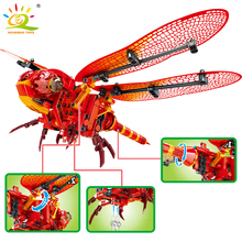 330Pcs Insect Model Technic Red Dragonfly Building Blocks Legoing City Animal Movable Bricks Creative Toys For Kids