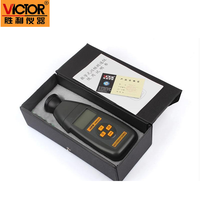 Victor new digital non-contact stroboscope DM6237P flash frequency gun 60 ~ 19,999 rpm per minute tachometer victor dm6235p digital tachometer