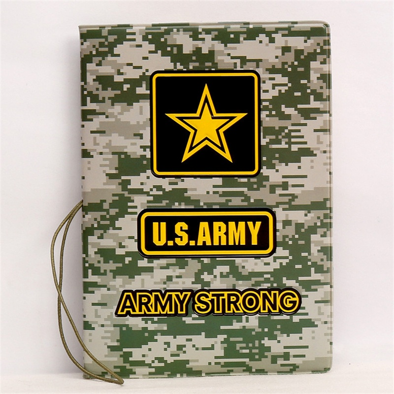 2019 Neuer Stil Vereinigten Staaten Armee Passport Abdeckung 3d Pu Leder Reisepass Kreditkarte Halter U S Armee La Cubierta De Pasaporte 14*9,6 Cm