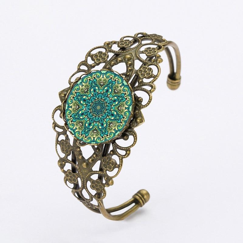 2016 Christmas Gifts Carved Flower Cuff Bracelets&Bangles Mandala Flower Yoga Charm Bracelets Online Shopping India Black Friday