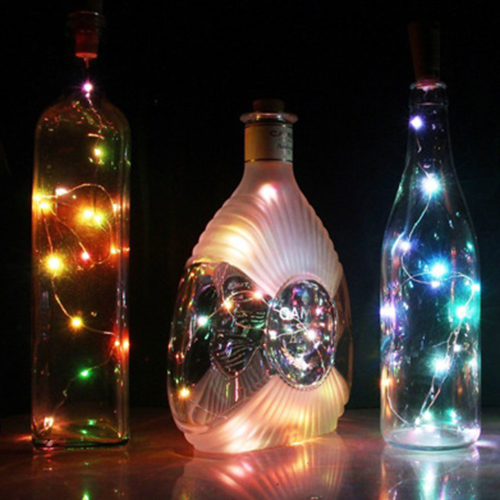 2017 Hot Sale 20 LED Chic Cork Shaped Night Starry Light Wine Bottle Lamp For Xmas Decor Cool hot sale 1000ml roland mimaki mutoh textile pigment ink in bottle color lc for sale