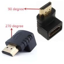 HDMI кабель адаптер 270/90 градусов угол HDMI Мужской к HDMI Женский для 1080P HDTV кабель адаптер конвертер удлинитель