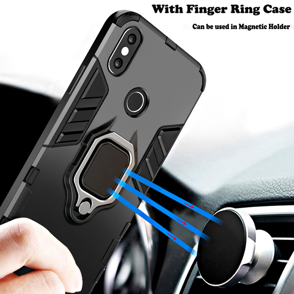 Magnetic Ring Holder Phone Case Cover For Xiaomi Redmi Note 5 6 Pro Mi A2 A1