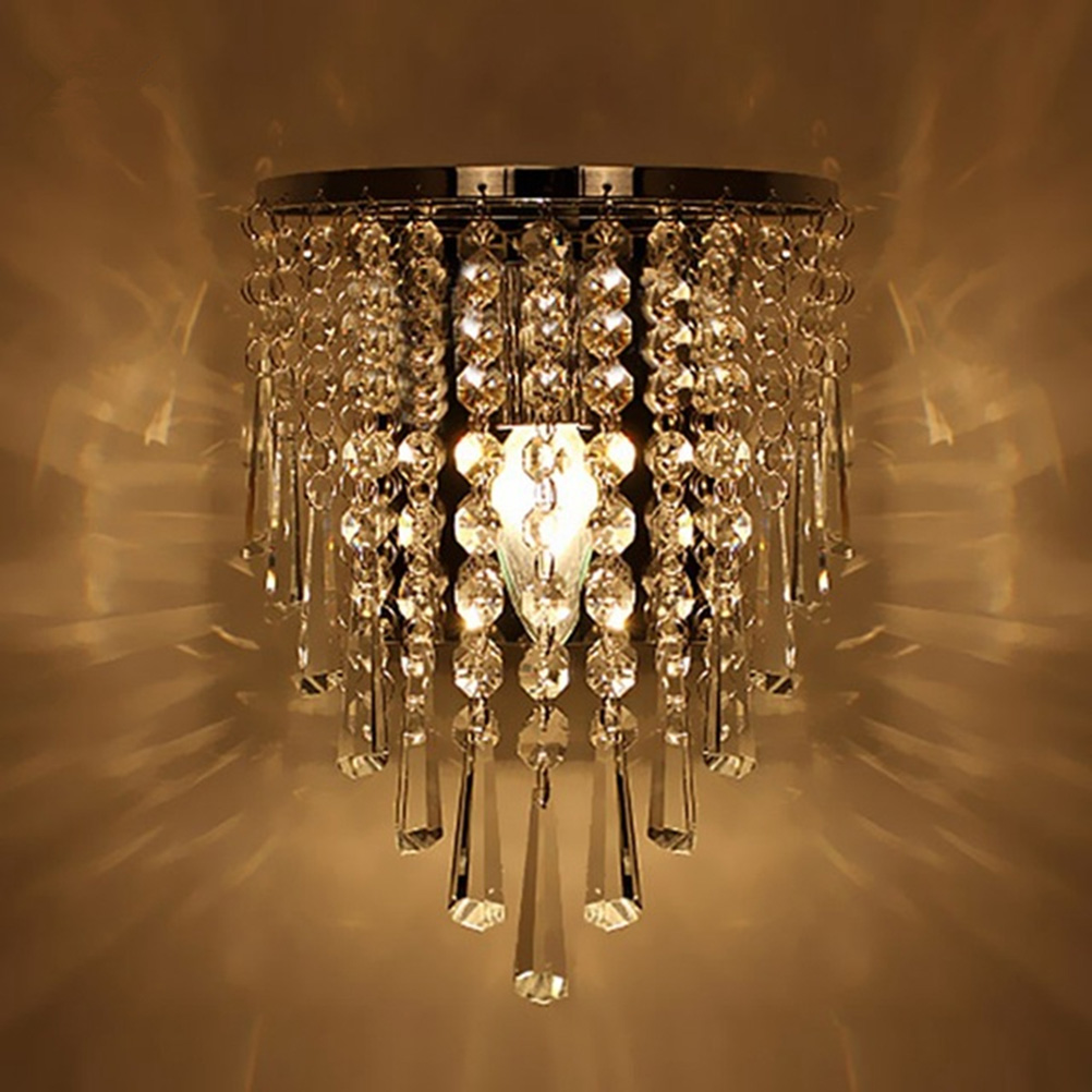 Modern wall lights for living room - Modern Crystal Wall Lamp Chrome Wall Sconce Bedside Living Room Wall Light Lamp For Home Decoration