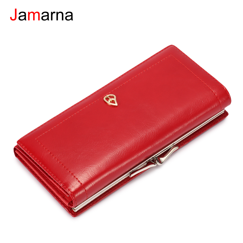 Jamarna Wallet Female Magnetic Women Wallets Clip Coin Purse Card Holder Women Wallets Brand Design High Quality Pu Leather