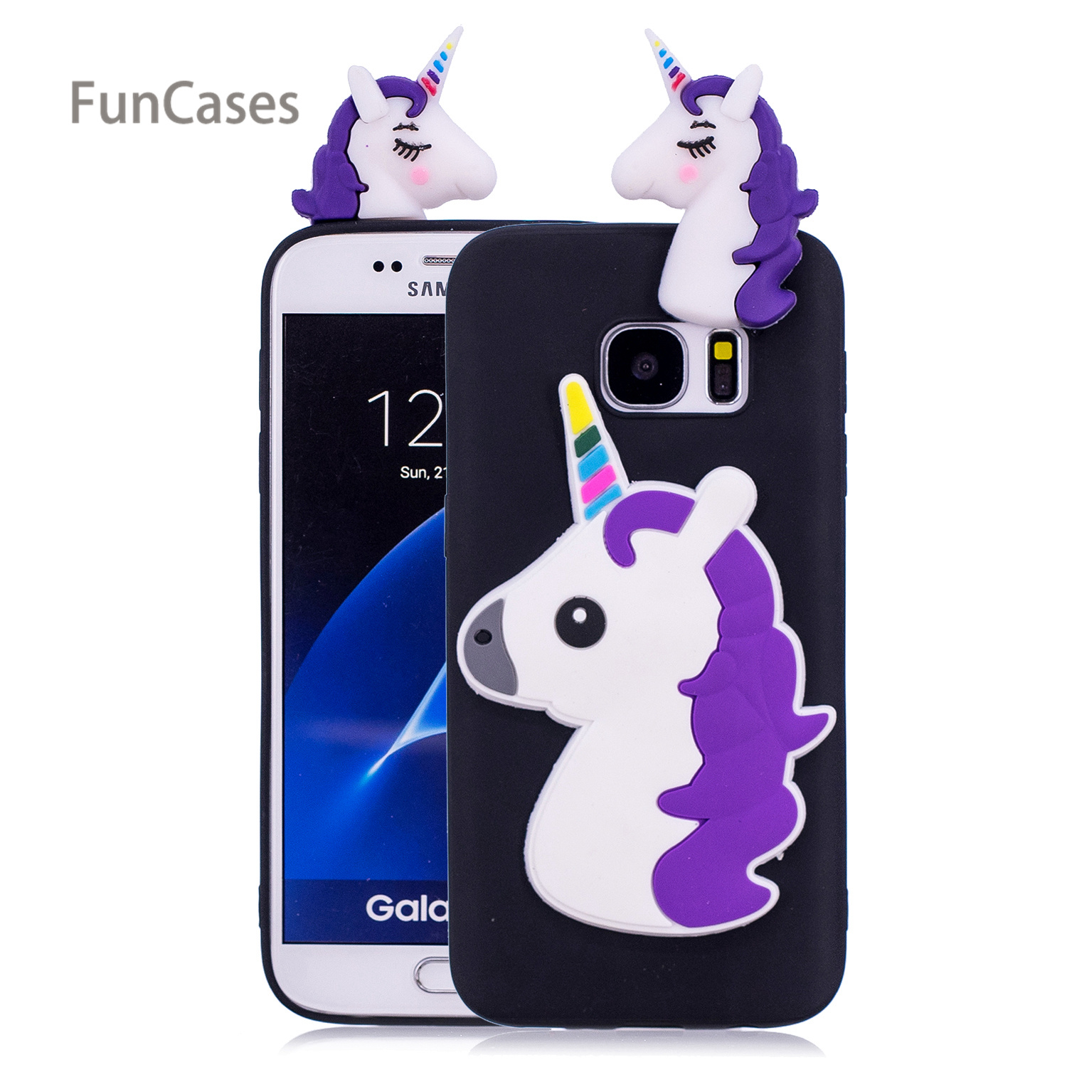 Cute Unicorn Phone Case sFor Hoesje Samsung S7 Soft TPU Phone Case Shell Quotes Messages Silicone Cover For Samsung Galaxy S7