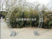 New style wedding props iron arch frame background decoration sakura door frame