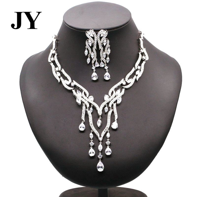 JY Luxury Whitehead Jewelry Sets For Women Elegant Necklace Party Earrings Vintage Charm Woman Best Gift Anniversary Design