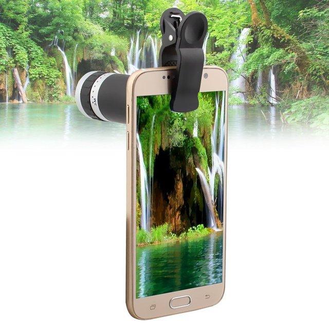 Freeship Lente Zoom Óptico de 8x com Clipe Lente Da Câmera Do Telescópio Telefone Móvel para iphone 6 s plus 5 4 4 nota 5 galaxy s6 s7 CL-83B