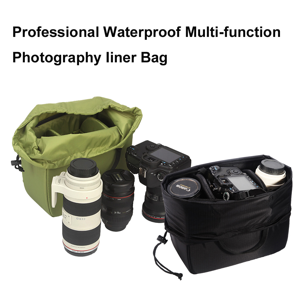 Beam Type Waterproof Camera Bag Insert Partition Padded Lens Pouch Cover For Canon Sony Nikon Jbl Xtreme Polyester Slr Dslr Box Storage Bags Aliexpress
