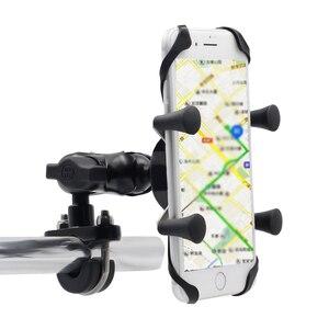 Image 2 - נייד 360 תואר Rotatable אלומיניום סגסוגת אופני E אופני אופנוע נייד טלפון תמיכה מחזיק