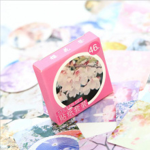 46 Pcs Box Romantic Cherry Blossom Mini Paper Sticker Decoration DIY Diary Scrapbooking Seal Toys Sticker