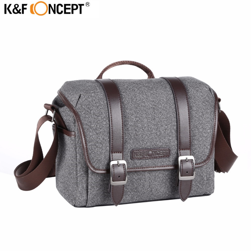 K&F CONCEPT Portable Single Shoulder Camera Bag Waterproof Shockproof Travel Photo/Video Bags Leisure Package For Canon Nikon benro cws30 nylon camera bag waterproof shockproof shoulder bag