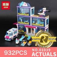 Lepin 01039 932Pcs The Girls Series Friends Heartlake Hospital Ambulance Block Set Olivia LegoINGlys 41318 For
