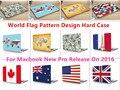 """Мир Шаблон Дизайна Ноутбука Тела Shell Защитный Футляр для Macbook Нью Pro 13 """"Retina 15"""" w/без Сенсорной Панели Release2016"""