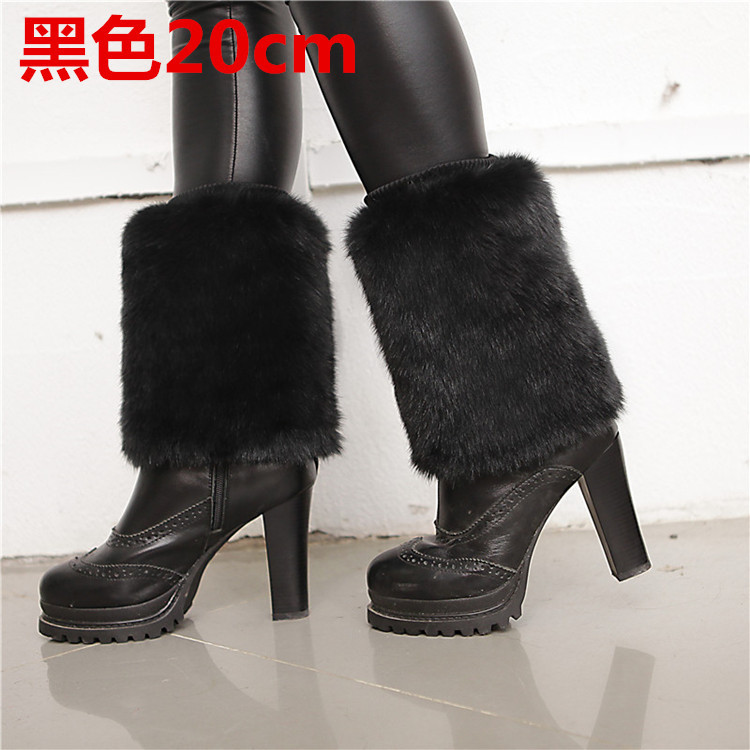 In Autumn And Winter, Ladies' Warm Socks Are Fur Like Fur, Rabbit Hair, Fur Legs, And Thicken Sets.
