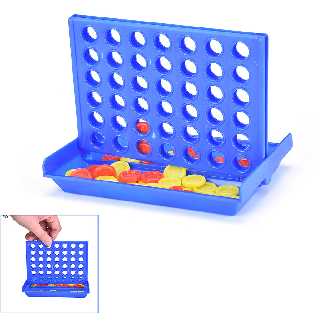 Hot Sale 1 Set Connect 4 In A Line Board Game Childrens Educational Toys For Kid Sports Entertainment