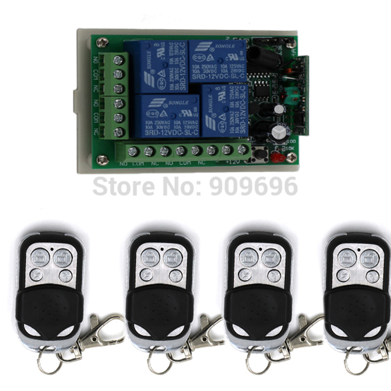 remote control switch Remote plug Electric Remote switching 4CH ...