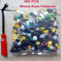 500Pcs Car Door Trim Panel Clip Bumper Rivet Retainer Fastener Plastic Auto Push Pin Rivet Mixed