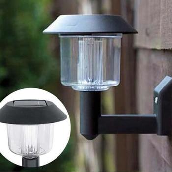30pcs/lot New Energy Solar Power Wall Light Fence Panel LED Lamp Outdoor Lighting Pathway Garden Light Black Color 92*125*127mm
