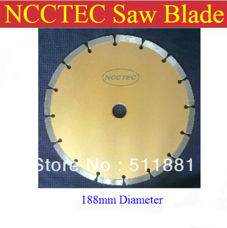 ФОТО 7.5''  NCCTEC general purpose diamond WET saw cutting blade | 188*20*2.8mm concrete stone cut disc wheel plate | FREE shipping