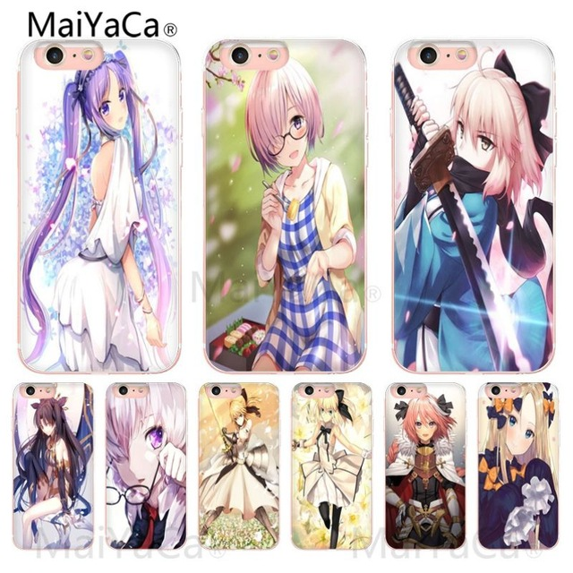 Maiyaca Sexy Cartoon The Anime Kawaii Girl Cat Novelty Phone Case Cover For Iphone 6s 6plus 7 7plus 8 8plus X Xs Max 5 5s Xr Cellphones & Telecommunications Phone Bags & Cases