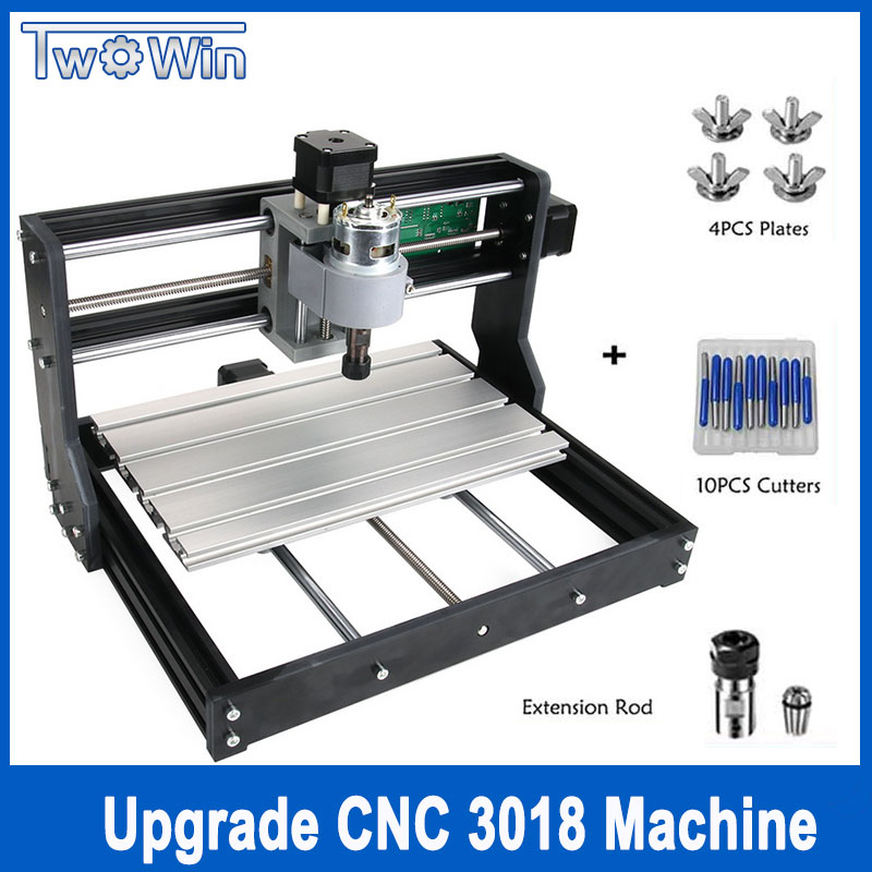 New CNC 3018 Pro GRBL Control Diy mini cnc Machine,3 Axis pcb Milling Machine,Wood Router Laser Engraving with Offline disassembled pack mini cnc 2418 pro cnc machine pcb milling machine with grbl control l10005