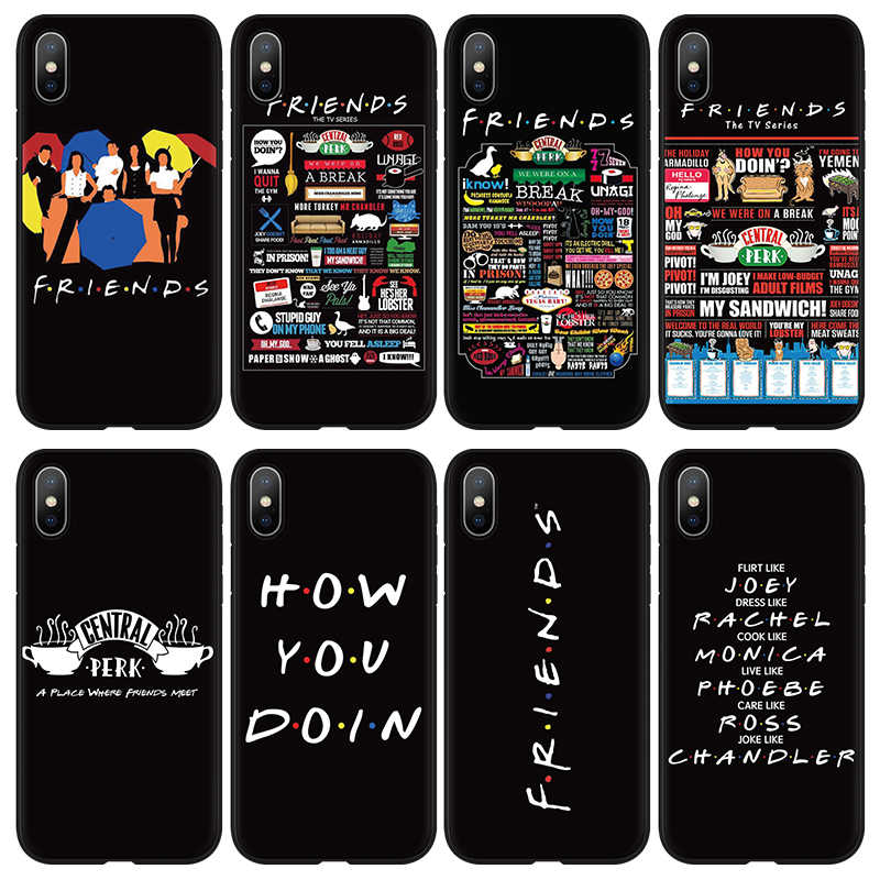 Central Perk Coffee friend ทีวี how doin สำหรับ iPhone 6 6s 7 8 PLUS สำหรับ iPhone 11 Pro XR XS MAX X 5 5S SE Case
