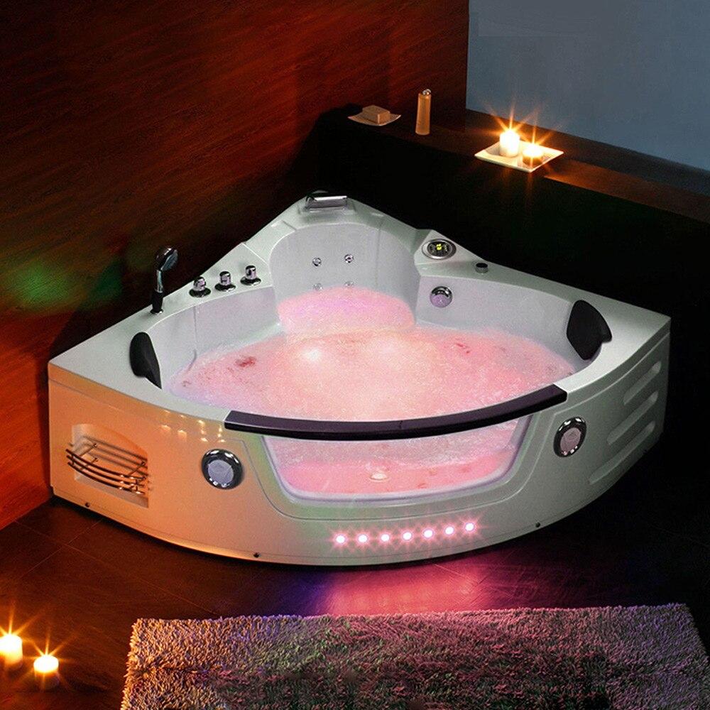 1350mm Whirlpool Bathtub Wall Corner Glass AIR Massage Acrylic ...