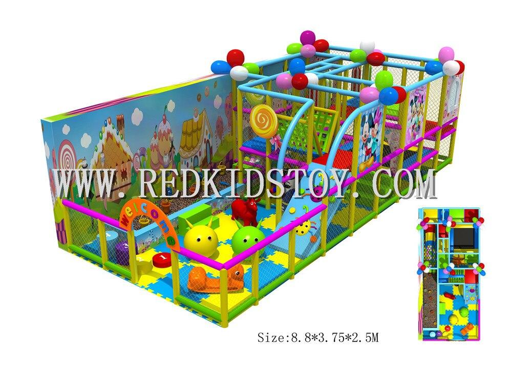 Maternelle sur mesure aire de jeux intérieure pépinière intérieure douce jouer jouets HZ-15027B