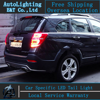 Auto Lighting Style LED Tail Lamp for Chevrolet Captiva 2008 2014 led taillight assembly drl rear trunk lamp cover signal+brake.