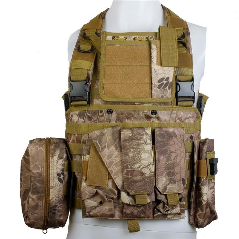 CQC RRV Airsoft tactique Molle gilet de Combat assaut poitrine plate-forme militaire Paintball chasse Police corps armure gilet Highlander