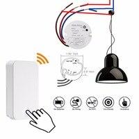 QIACHIP 433Mhz Wireless Remote Control Switch AC 110V 220V 1CH Relay Receiver Module RF Remote Controls