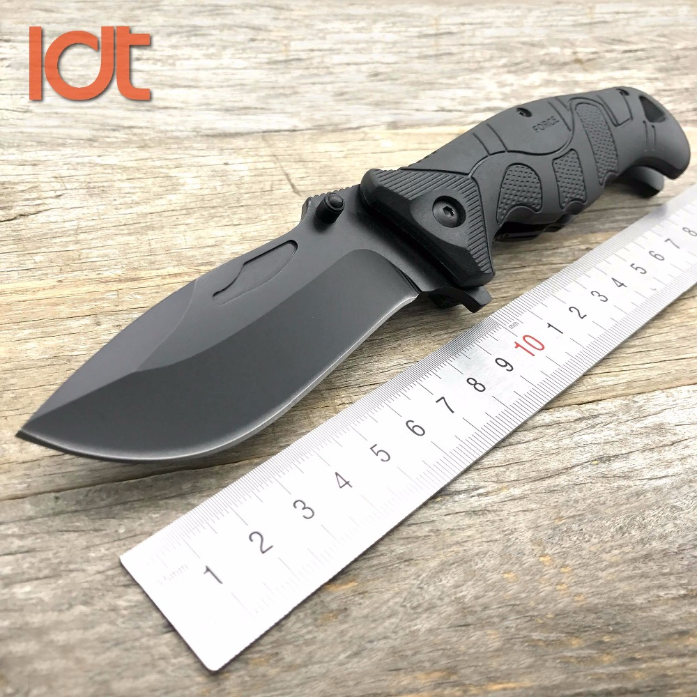 LDT EF 141 Folding Knife 8Cr18Mov Blade Glass Fiber Plastic Handle Camping Hunting Survival Knives Pocket Outdoor Knife EDC Tool