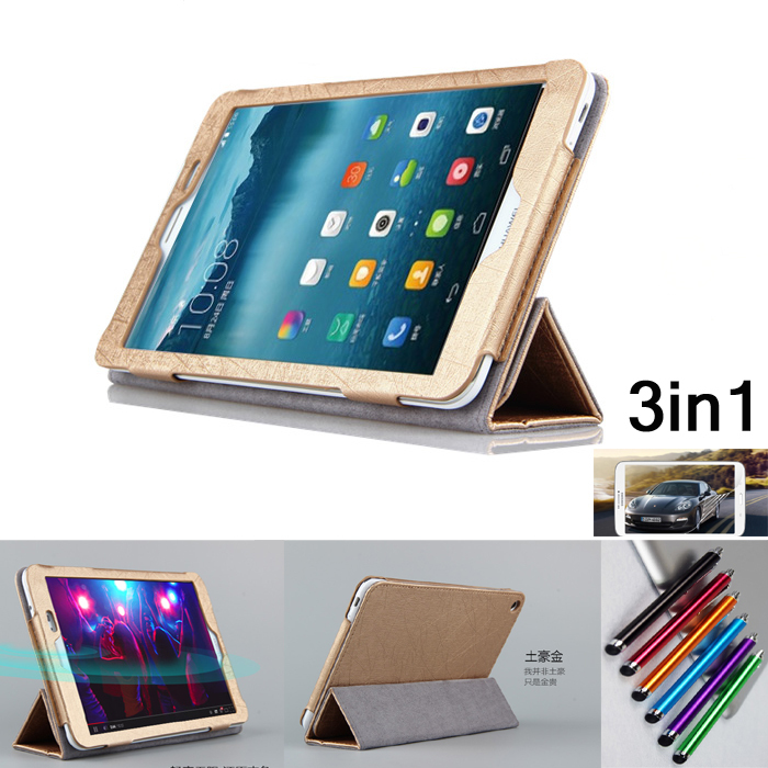 Fashion Flip Folding stand Case Cover For HuaWei MediaPad T1 8.0 S8-701U S8-701W S8-701 T1-821 stand PU leather cases